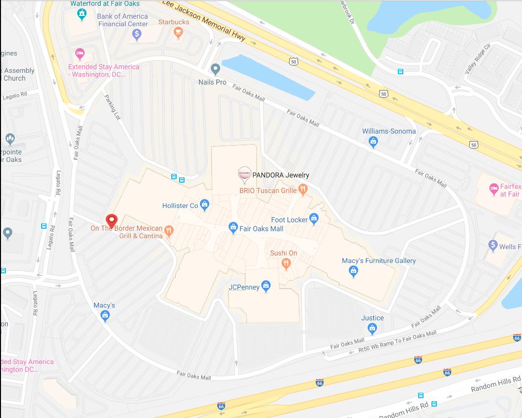 Map for location: Fairfax, VA