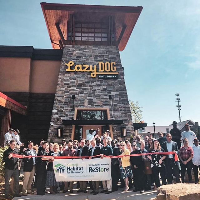 Lazy Dog Restaurant & Bar Opens in Peachtree Corners logo