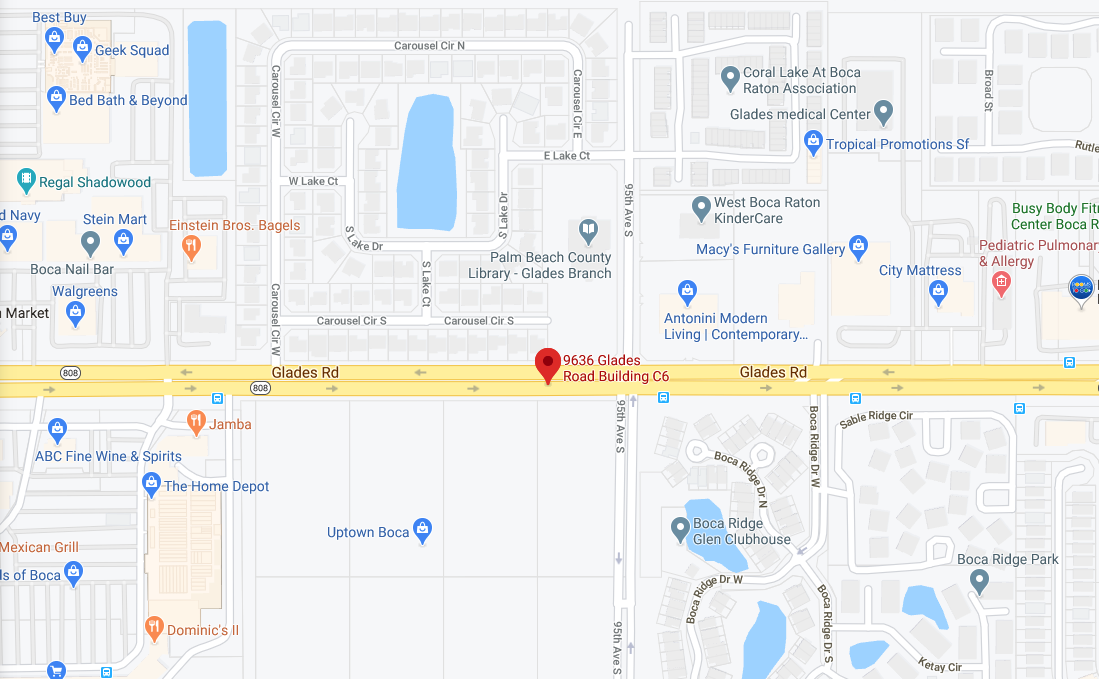 Map for location: Boca Raton, FL