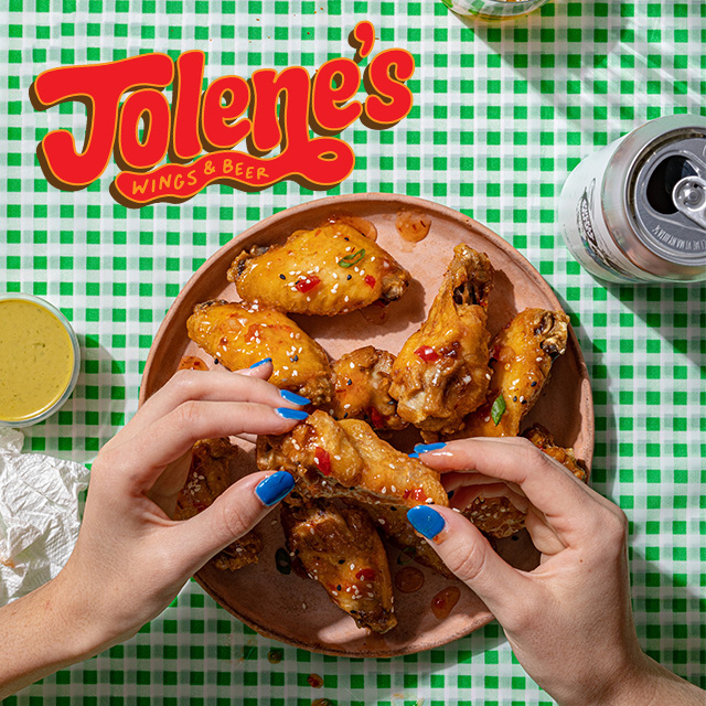 Jolene's Wings & Beer, a New Virtual Restaurant from Lazy Dog Restaurant & Bar, Is Your New Essential Wing + Beer Take-out and Delivery Service logo