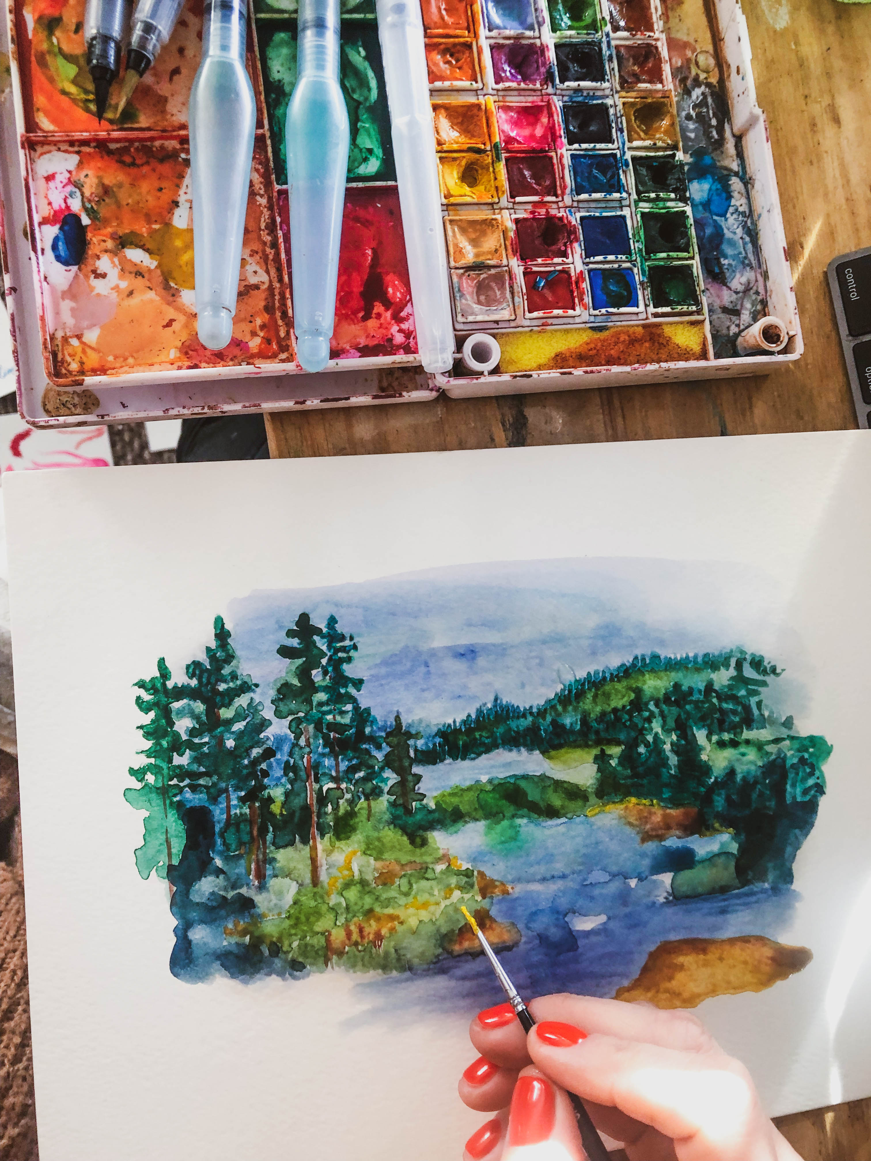 Painting water color tray