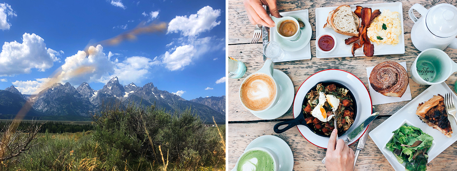 Jackson Hole, Wyoming and meal at Persephone Bakery.
