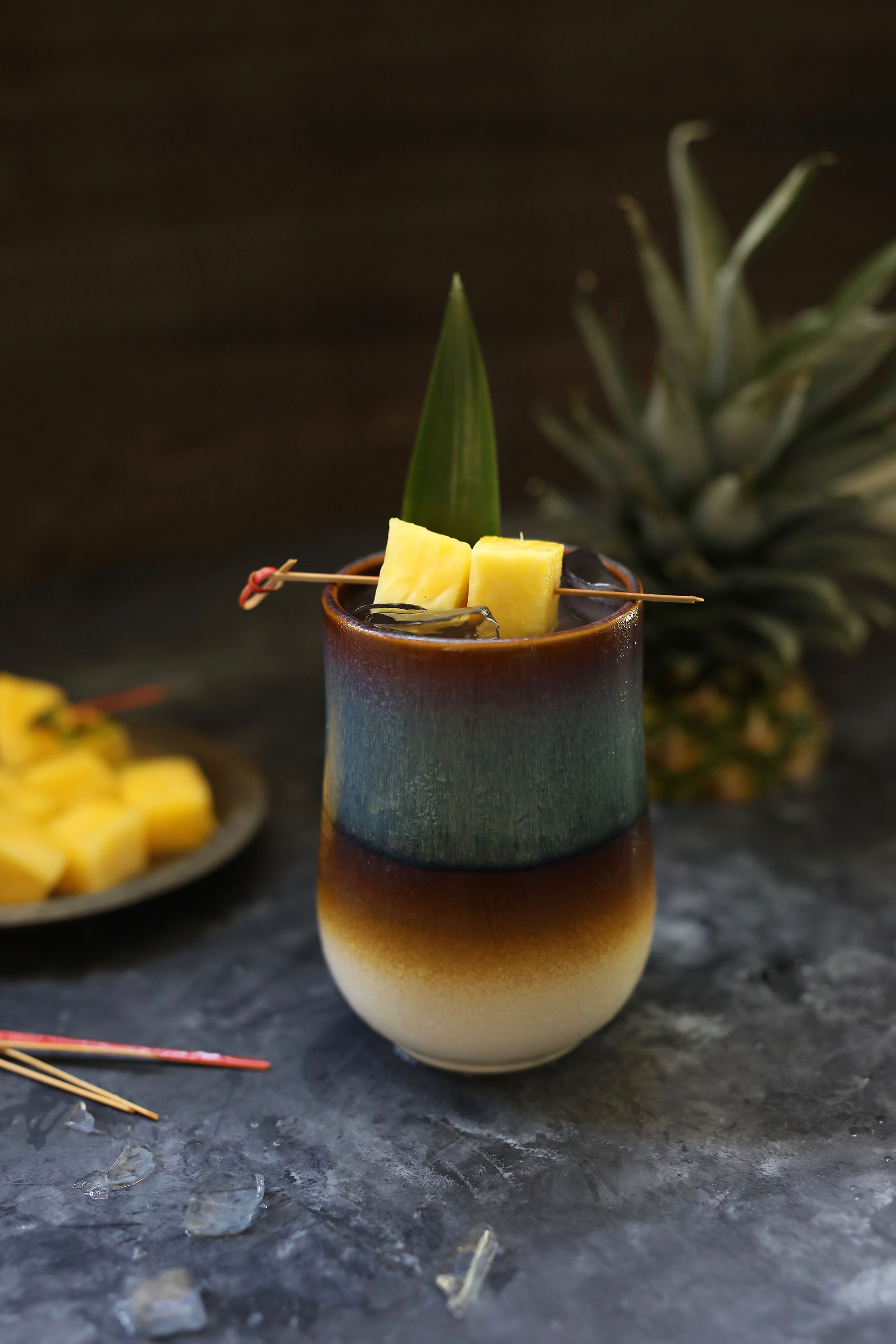 tiki mug with rum punch