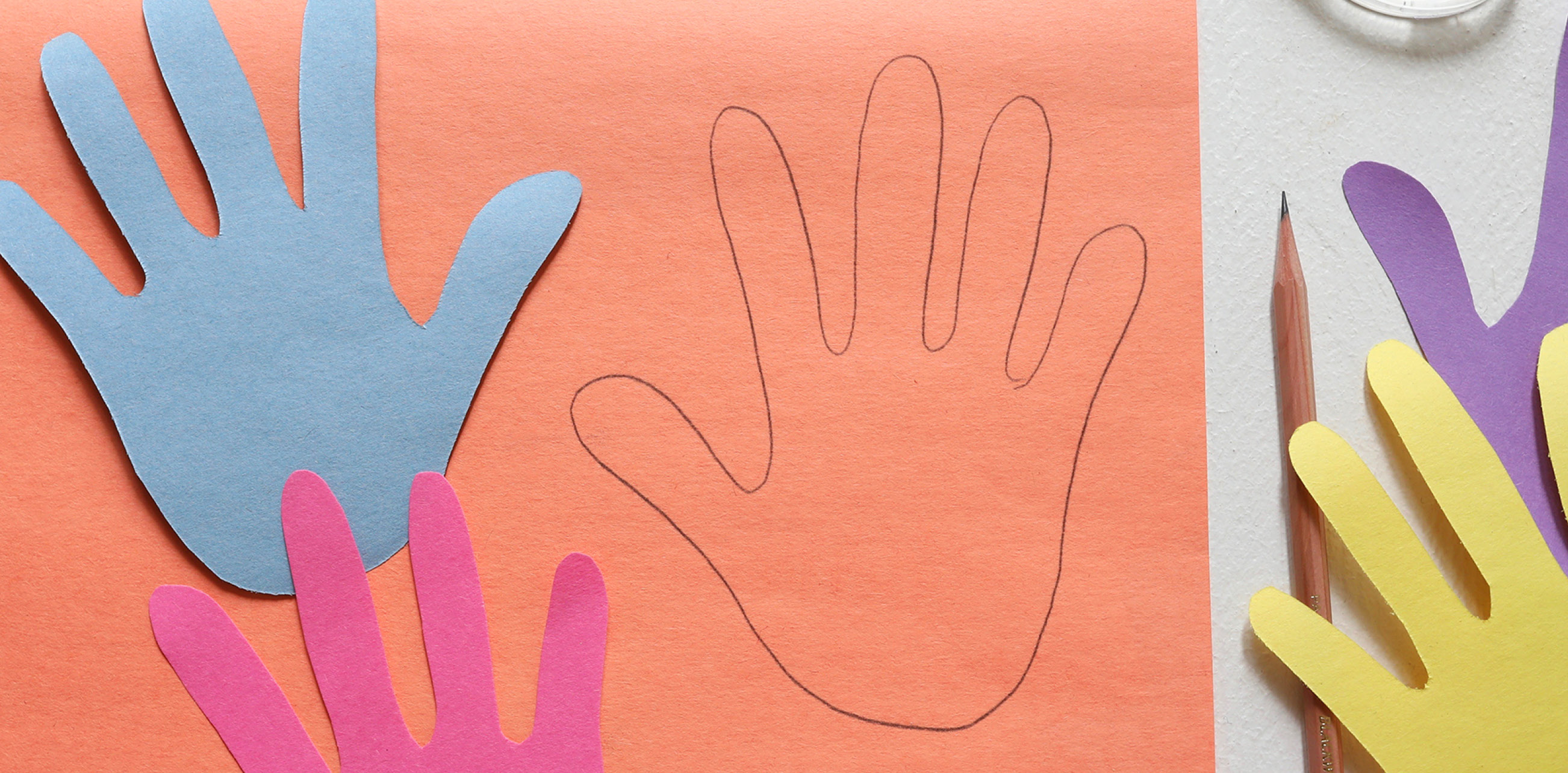 handprints on paper