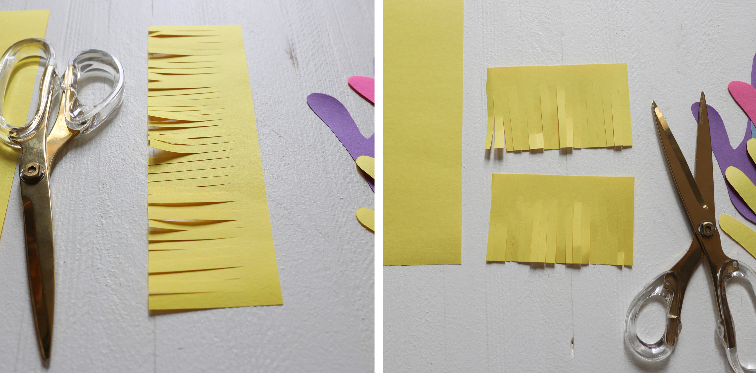 cut yellow paper
