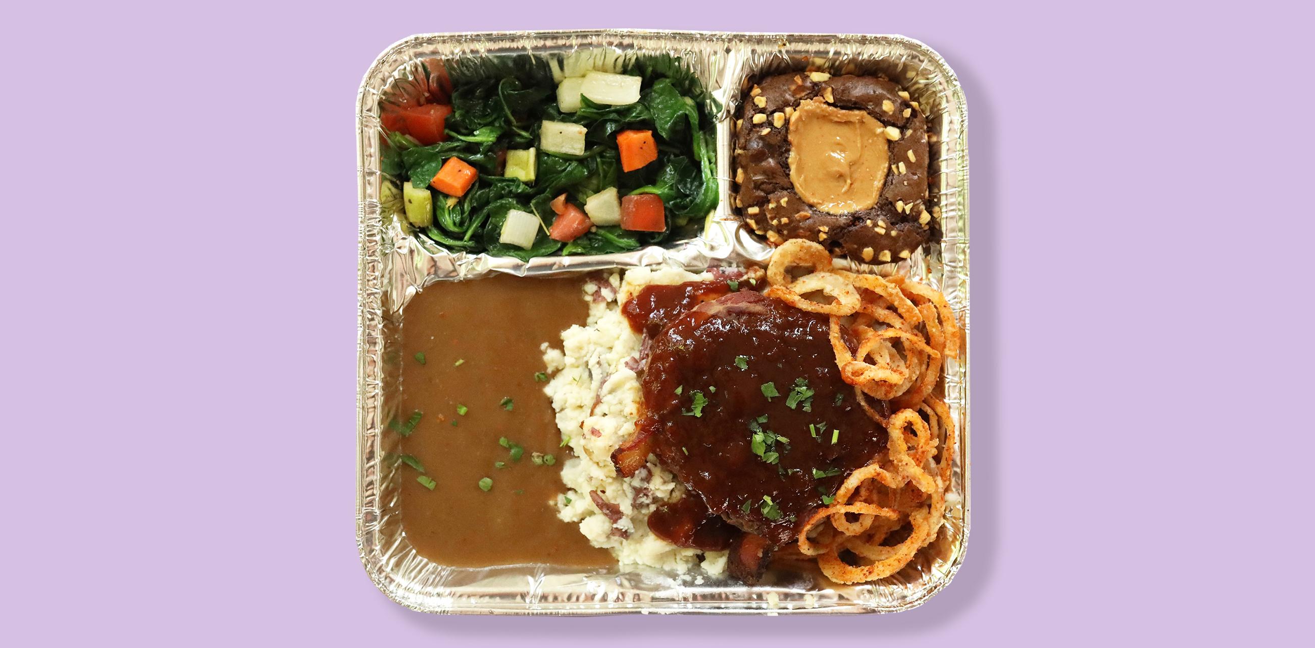 BBQ Bison Meatloaf TV Dinner