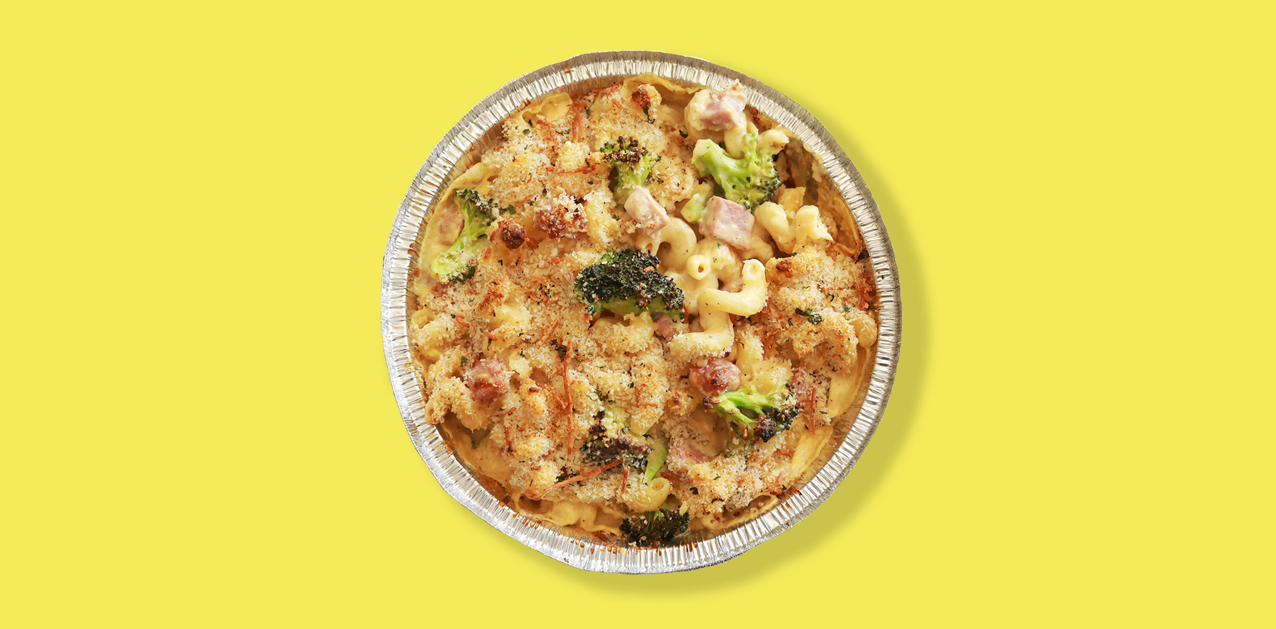 ham and broccoli mac n cheese tv dinner